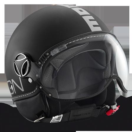 MOMO FGTR matt black silver logo