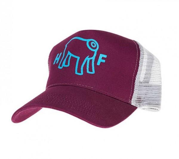 "HOLY FREEDOM Hat - ""Mud"" - bordeaux & blue"
