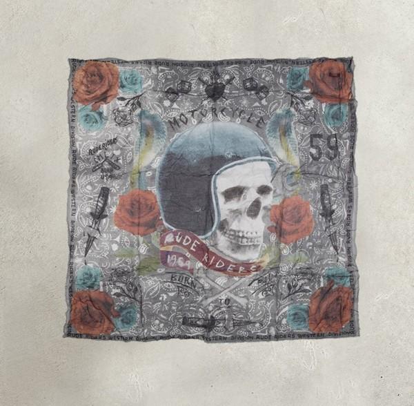 "RUDE RIDERS Foulard - ""Born to Ride"" - 67 x 60 cm"