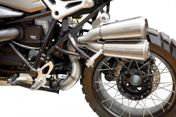"""UNITGARAGE - """"Double High Pipe nineT Scrambler with visible Welding"""" for BMW - titanium"""