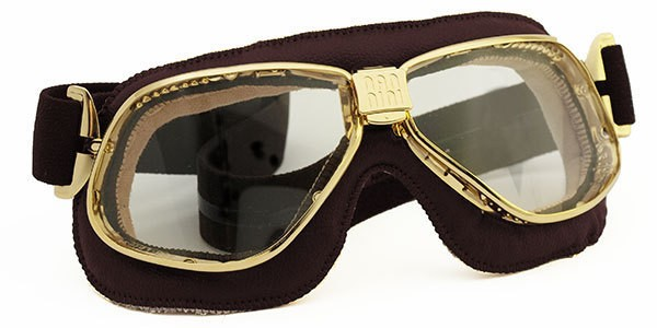 """NANNINI - """"Cruiser"""" - gold-clear with brown leather"""