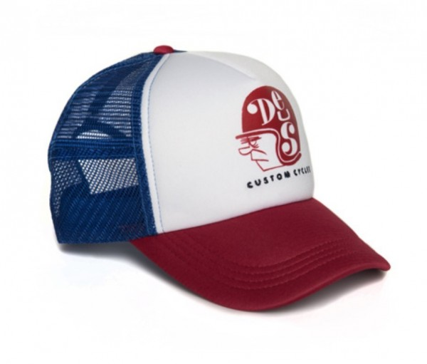 """DEUS EX MACHINA Hat - """"Helmut Trucker"""" - blue & red"""