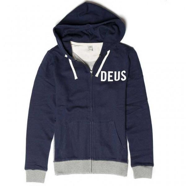 "DEUS EX MACHINA Men's Hoodie - ""Patrick Contrast"" - blue"