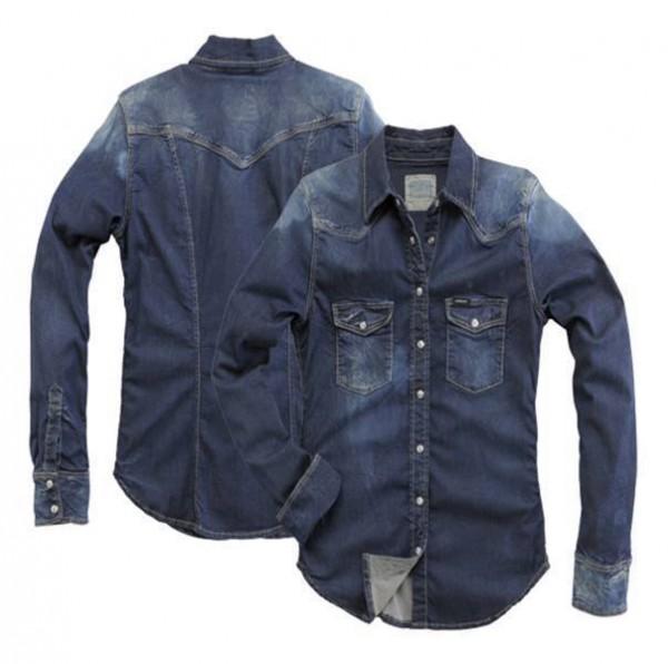 "ROKKER Women's Shirt - ""Denim Shirt Blue"" - blue stonewashed"