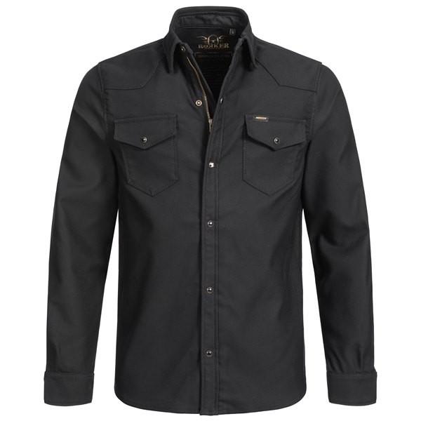Rokker Black Jack Rider Shirt in black