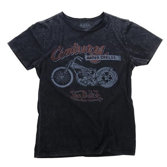 """VON DUTCH T-Shirt - """"Century Motorcycle"""" - vintage black"""