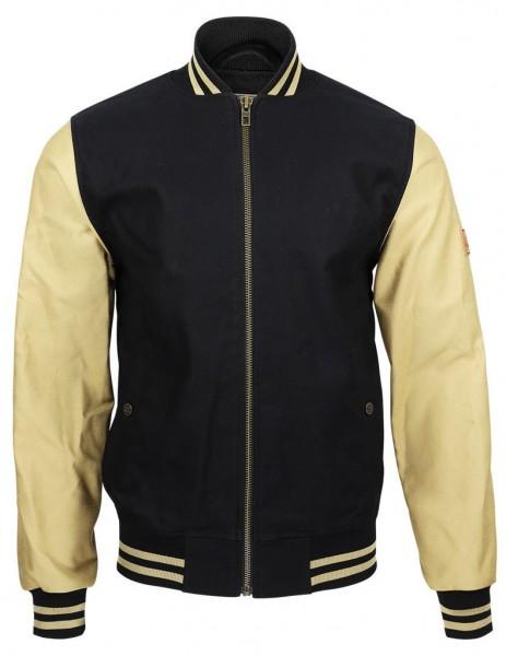 """ROKKER Jacket - """"College Jacket"""" - beige & black"""