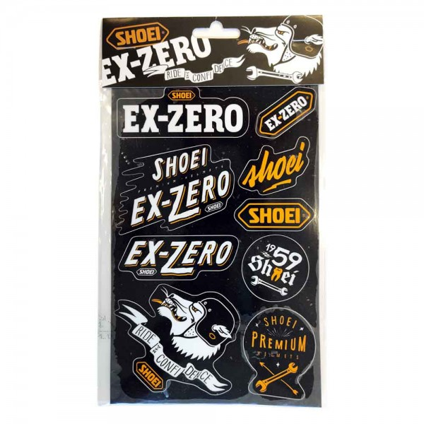 SHOEI Sticker EX-Zero Sheet with 9 pieces
