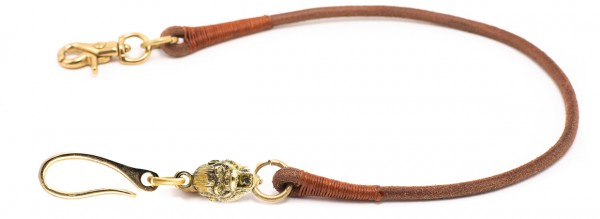 """SEVENTIES Lanyard with Keychain - """"King Kong"""" - brown"""