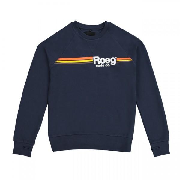 ROEG Sweatshirt Ton in navy blue with printed logo