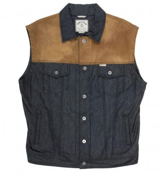 "IRON & RESIN Vest - ""Rambler"" - indigo"