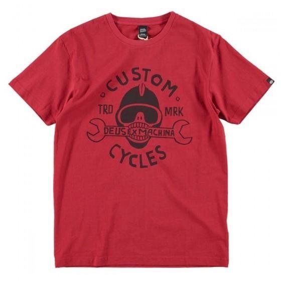 "DEUS EX MACHINA T-Shirt - ""Mouthful Tee"" - washed red"