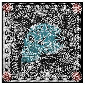 "RUDE RIDERS Scarf - ""Lax Skull"" - 140 x 130 cm"