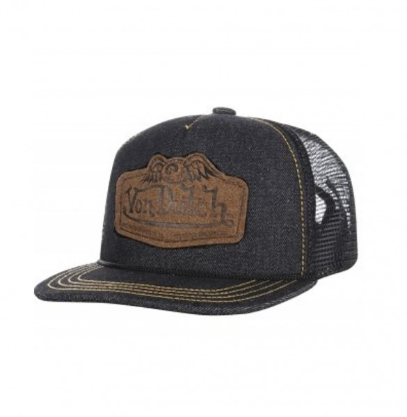 """VON DUTCH Hat - """"Denim"""" - raw denim blue"""