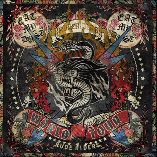 "RUDE RIDERS Scarf - ""World Tour"" - 130 x 130 cm"