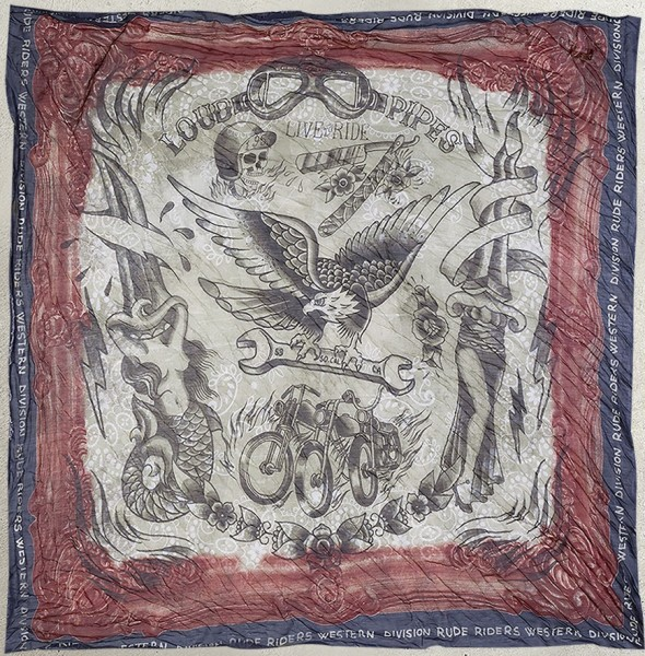 """RUDE RIDERS Scarf - """"Loud Pipes"""" - 140 x 130 cm"""