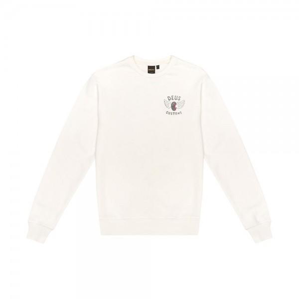 "DEUS EX MACHINA Sweatshirt - ""Eviction Crew"" - vintage white"