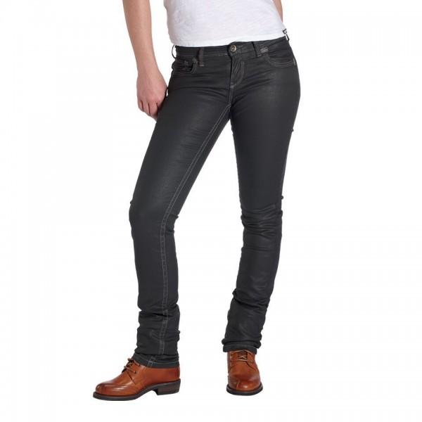 """ROKKER Women's Jeans - """"The Diva"""" - black coated"""