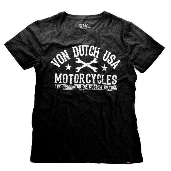 """VON DUTCH T-Shirt - """"Logo"""" - black"""
