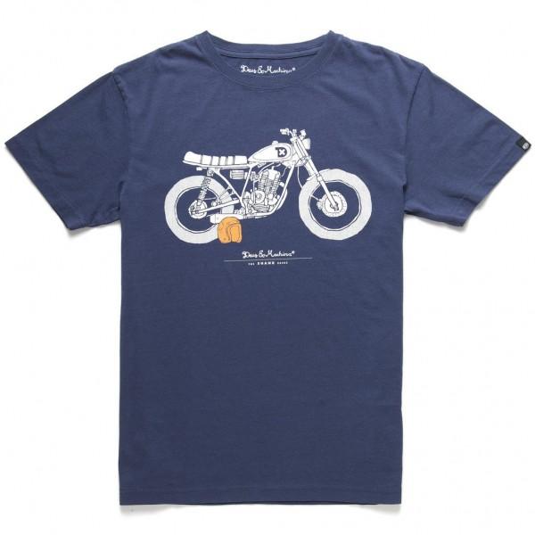"DEUS EX MACHINA T-Shirt - ""The Shank Tee"" - navy"