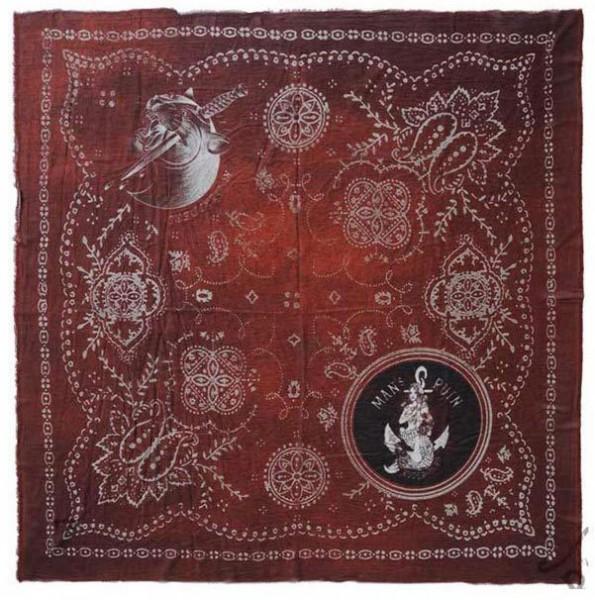 """RUDE RIDERS Foulard - """"Indigo Custom Fire"""" - 67 x 60 cm"""
