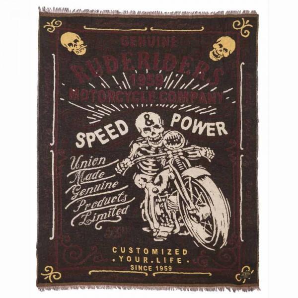 "RUDE RIDERS Blanket - ""Speed & Power"" - 150 x 190 cm"