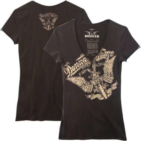 "ROKKER Women's T-Shirt - ""Donnas Garage"" - brown"