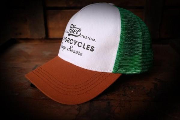 "FUEL Hat - ""Custom"" - white, brown, green"