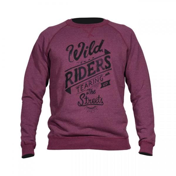 "DMD Sweatshirt - ""Riders"" - bordeaux"