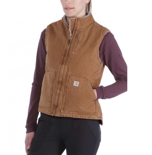 """CARHARTT Women Vest """"Sandstone Mock Neck Vest"""" - brown"""