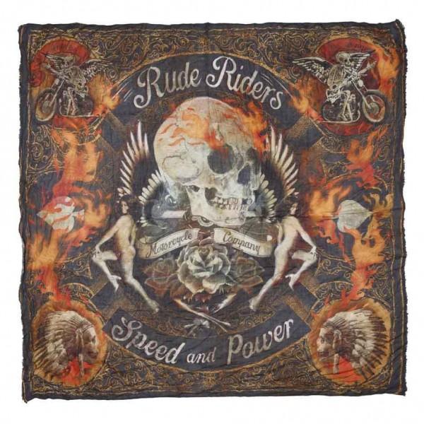 "RUDE RIDERS Scarf - ""Pins Custom"" - 140 x 130 cm"