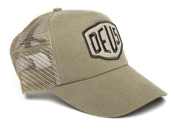 """DEUS EX MACHINA Hat - """"Foxtrott Shield Trucker"""" - olive"""
