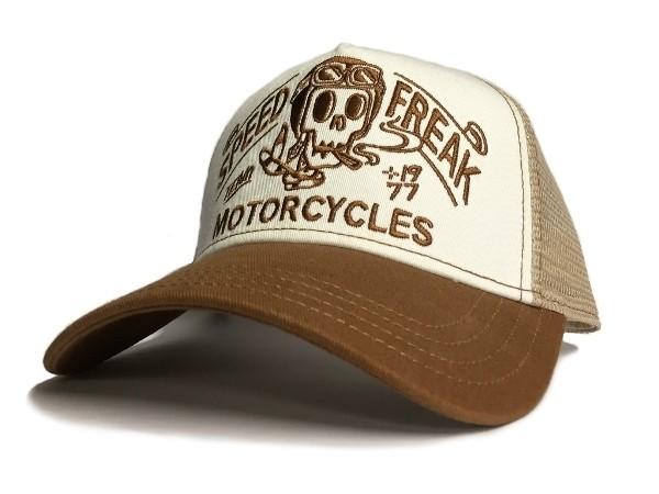 """ROKKER hat - """"Speed Freak Trukker"""" - white/beige"""