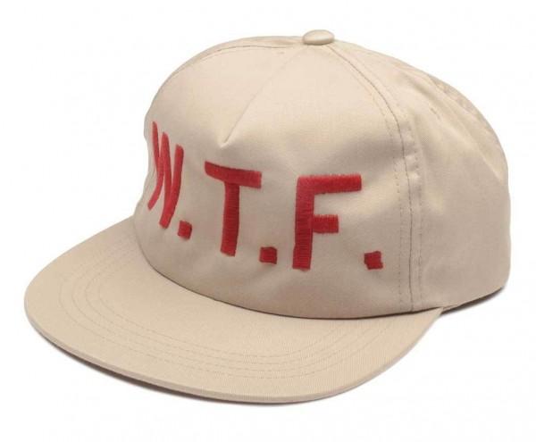 """EL SOLITARIO Hat - """"WTF"""" - beige"""