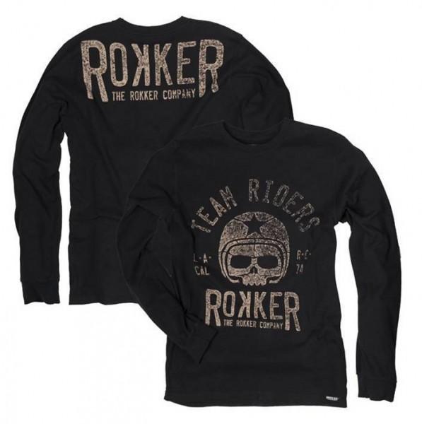 """ROKKER Men's Longsleeve - """"Team Rider"""" - black"""
