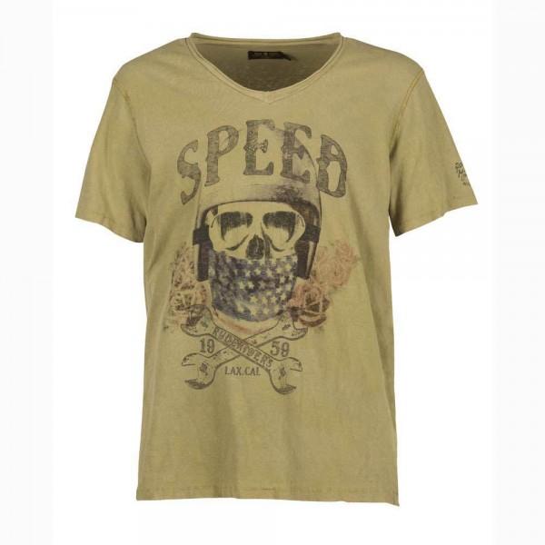"RUDE RIDERS T-Shirt - ""Speed"" - mustard"