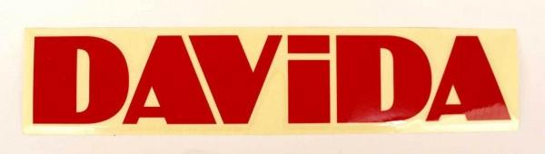 "DAVIDA Sticker - ""DAVIDA"" - red"