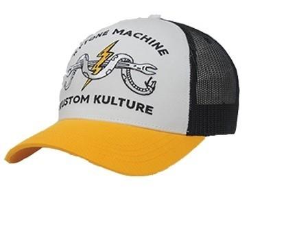 """KYTONE Hat - """"Kustom"""" - white, black & yellow"""