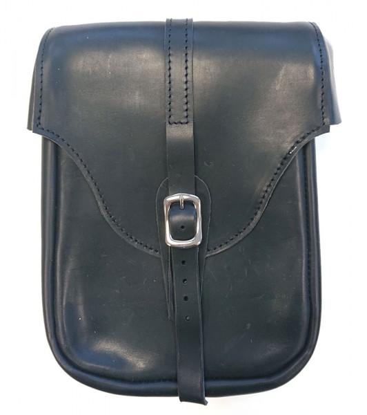 SIR LEDER MICHEL Motorradtasche aus schwarzem Leder