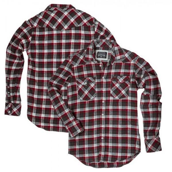 """ROKKER Men's Shirt - """"Dagger Red & White"""" - checkered"""