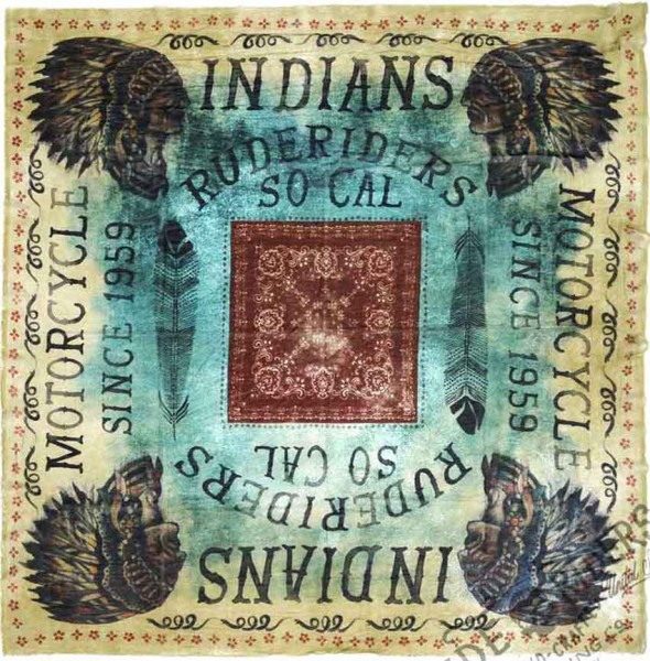 """RUDE RIDERS Scarf - """"Indians"""" - 140 x 130 cm"""