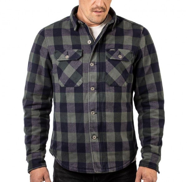 Rokker Richmond Rider Shirt blue green