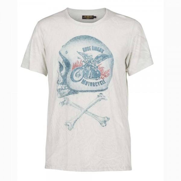 "RUDE RIDERS T-Shirt - ""Motorcycle"" - white"