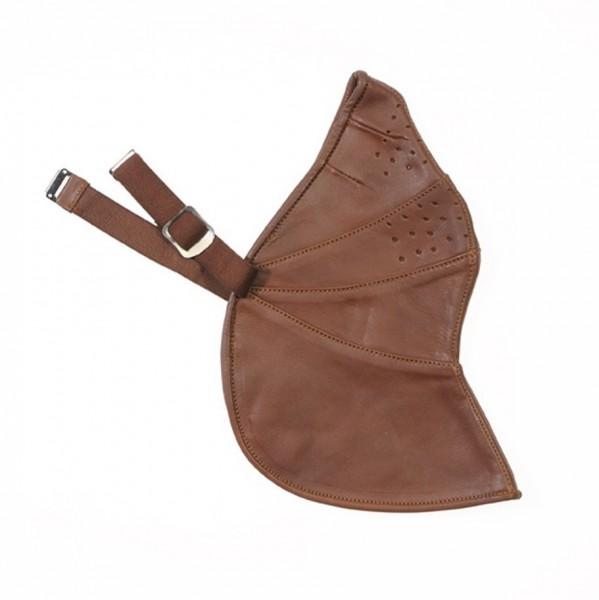 "DAVIDA Leather Universal Face Mask - ""Mk2"" - ZNut brown"