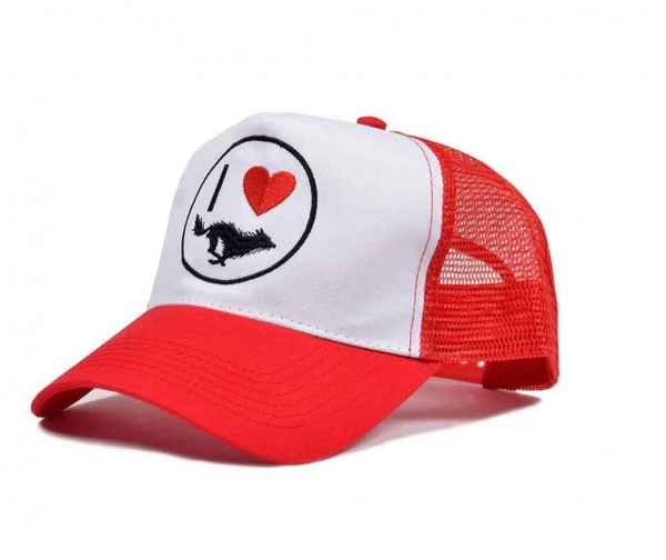 "EL SOLITARIO hat - ""I Love Wolf"" - red/white"