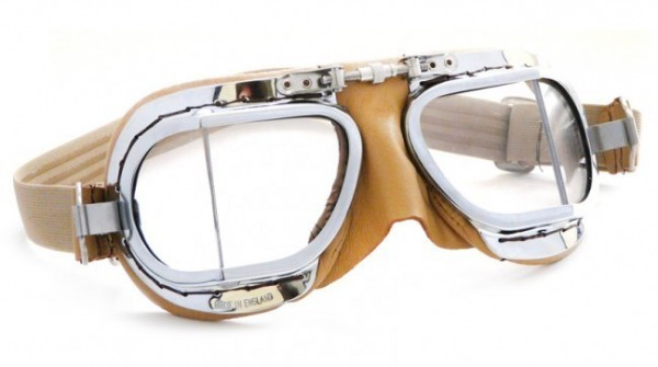 """HALCYON Goggles - """"Mark 49 Compact"""" - tan/beige"""