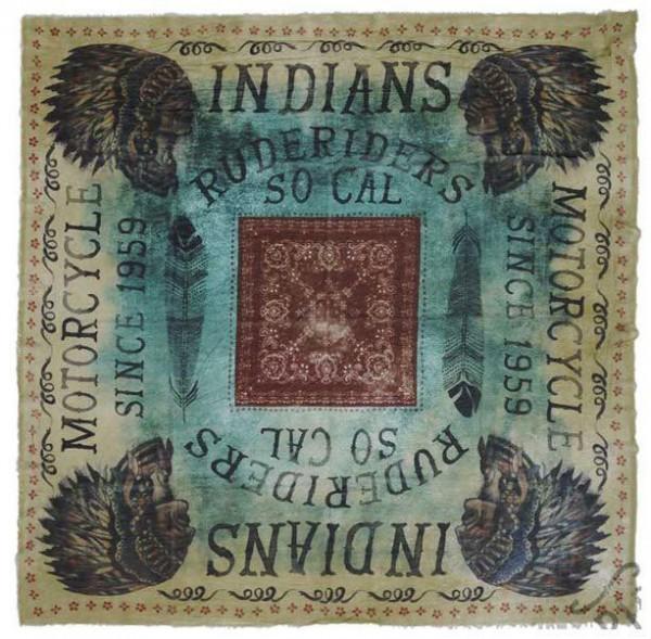 "RUDE RIDERS Foulard - ""Indians Lax"" - 67 x 60 cm"