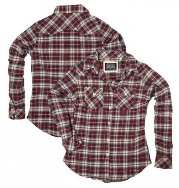 """ROKKER Women's Shirt - """"Roses Vintage"""" - checkered"""
