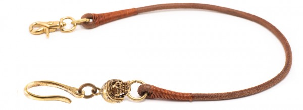 """SEVENTIES Lanyard with Keychain - """"Death or Glory"""" - brown"""