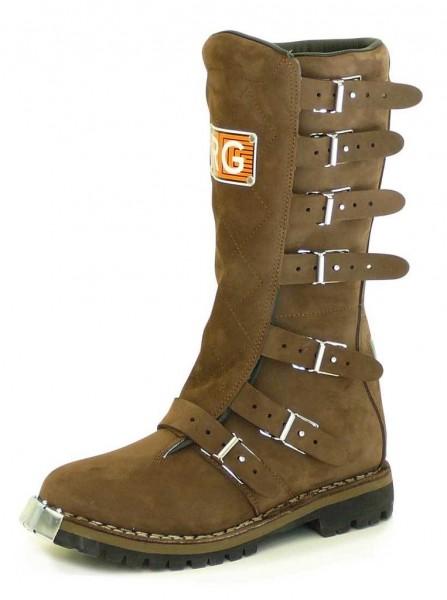 "RG ITALIA Motorcycle Boots - ""Regolarità Six Days"" - brown"